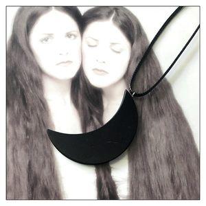 Shungite Crescent Moon Healing EMF Protection